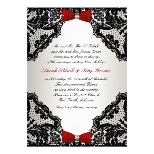 Red Black And White Wedding Invitations for your inspiration to make invitation template look beautiful