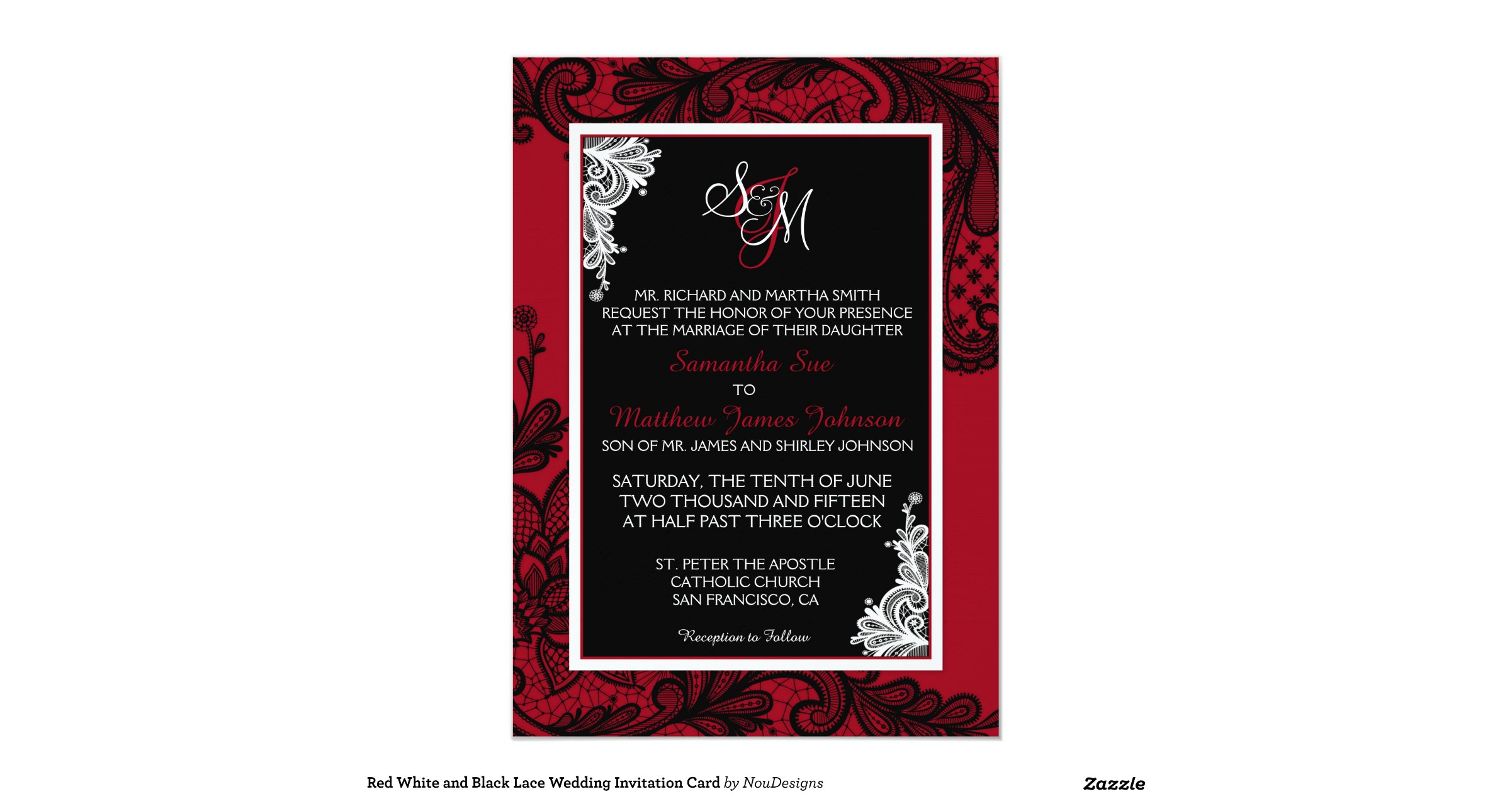 Red White And Black Lace Wedding Invitation Card Rb7ed85480ca44647aee64473bace0664 Zkrqs 1200
