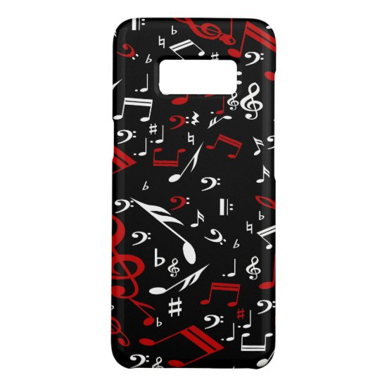 Red White and Black Musical Notes Case-Mate Samsung Galaxy S8 Case