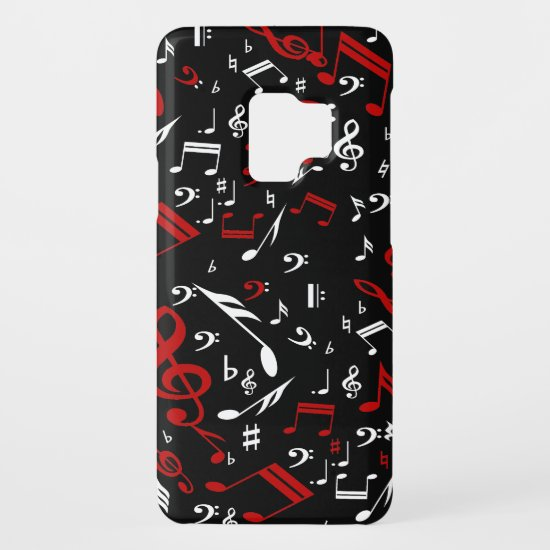 Red White and Black Musical Notes Case-Mate Samsung Galaxy S9 Case