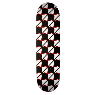 Red White and Black Square Skateboard