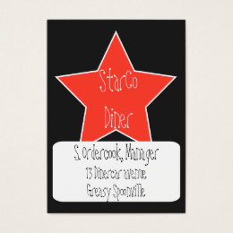 Black and white stars design business cards templates zazzle red white and black star design business card reheart Choice Image