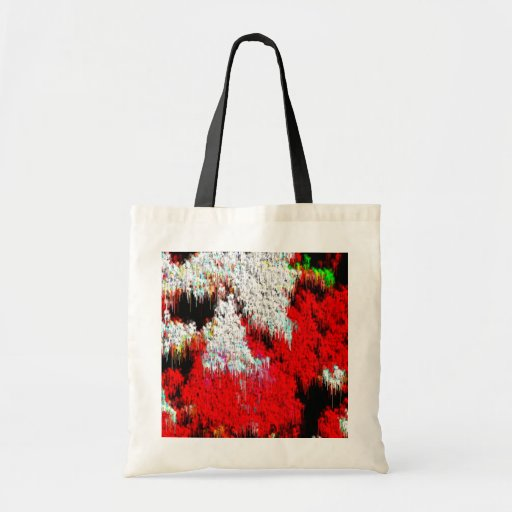 Red, White and Black Tote Bag