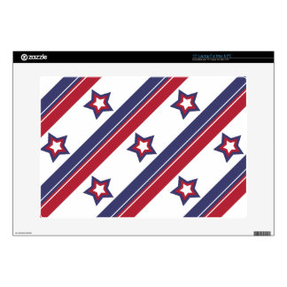 "Red, White and Blue 15"" Laptop Decals"