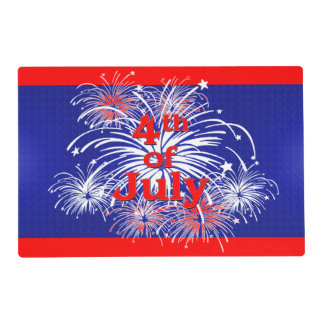 Red, White and Blue 4th of July Fireworks Placemat