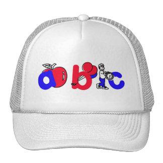Red,White and Blue ABC Alphabet Logo Trucker Hat