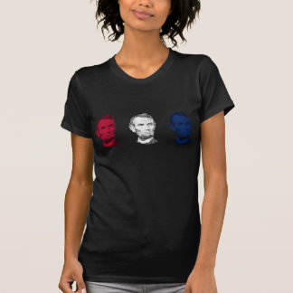 Red, White, and Blue Abraham Lincoln Tee Shirts