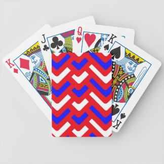 red white and blue abstract bicycle playing cards