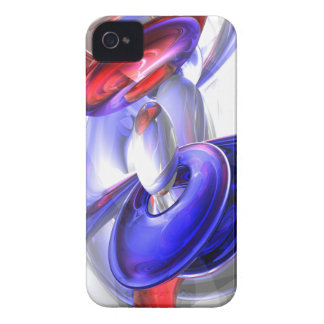 Red, White and Blue Abstract Blackberry Bold Case