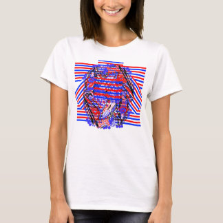 Red White and Blue Abstract design Tshirt