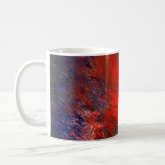 Red White and Blue Abstract Mug