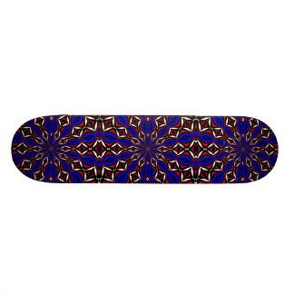 Red, White and Blue Abstract Skateboard