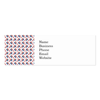 Red White and Blue All American Pattern Double-Sided Mini Business Cards (Pack Of 20)