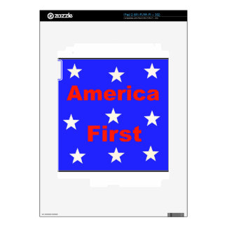 "Red, White, And Blue ""America First"" Design Skin For The iPad 2"
