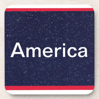 Red White and Blue America USA Coasters