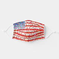 Red, white and blue - American flag Cloth Face Mask