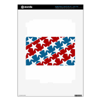 Red White and Blue American Flag Stars iPad 3 Skins