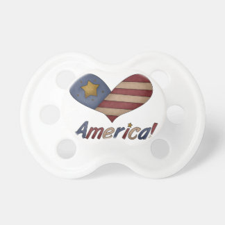 Red White and Blue American Pacifier