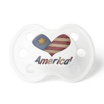 USA Themed Red White and Blue American Pacifier