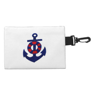 Red White and Blue Anchor Accessory Bag