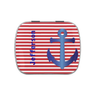 Red, White, and Blue Anchor Candy Tin
