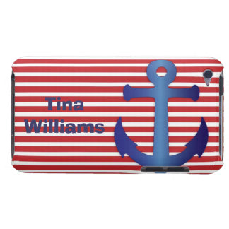 Red, White, and Blue Anchor iPod Touch Case