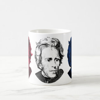 Red, White, and Blue -- Andrew Jackson Classic White Coffee Mug