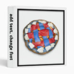 Red White And Blue Apple Pie Binders