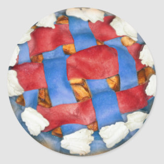 Red White And Blue Apple Pie Classic Round Sticker