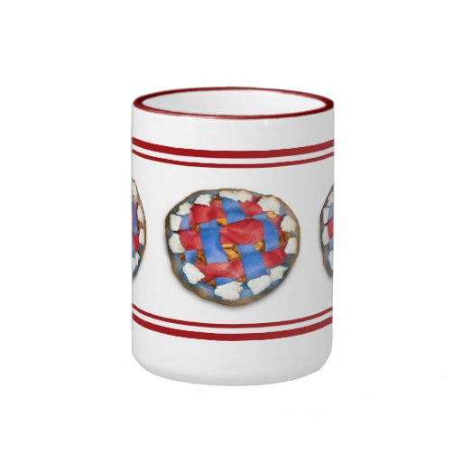 Red White And Blue Apple Pie Coffee Mugs