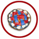 Red White And Blue Apple Pie Cut Outs