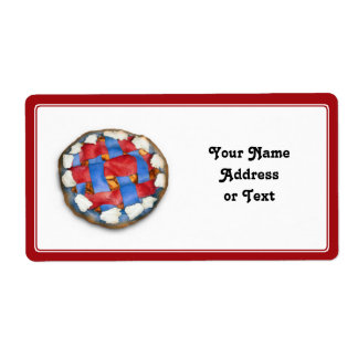 Red White And Blue Apple Pie Personalized Shipping Labels