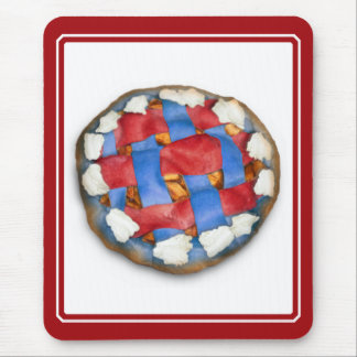 Red White And Blue Apple Pie Mouse Pad