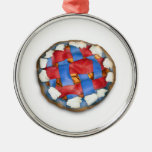 Red White And Blue Apple Pie Christmas Tree Ornament