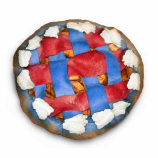 Red White And Blue Apple Pie Standing Photo Sculpture