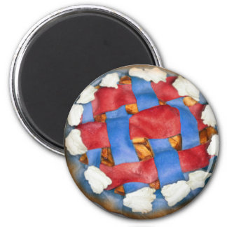 Red White And Blue Apple Pie Refrigerator Magnet