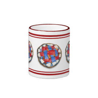 Red White And Blue Apple Pie Ringer Coffee Mug