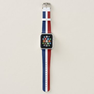 USA Themed Red White and Blue Apple Watch Band