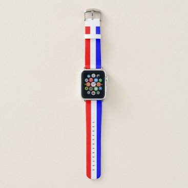 Beach Themed Red White And Blue Apple Watch Band