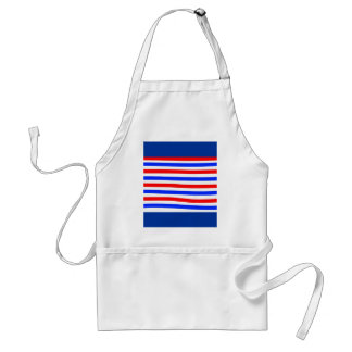 Red white and blue adult apron