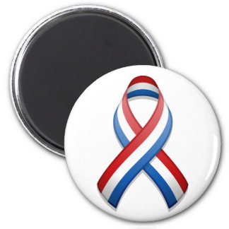Red, White, and Blue Awareness Ribbon Magnet