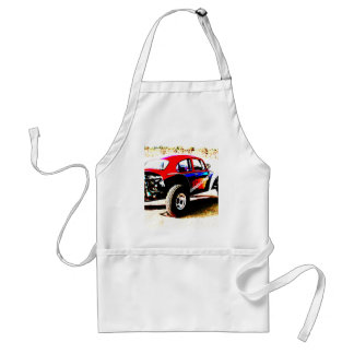 red white and blue baja bug in all categories adult apron