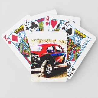 red white and blue baja bug in all categories bicycle playing cards