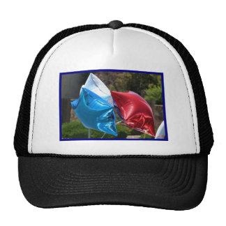 Red White and Blue balloons cap Trucker Hat