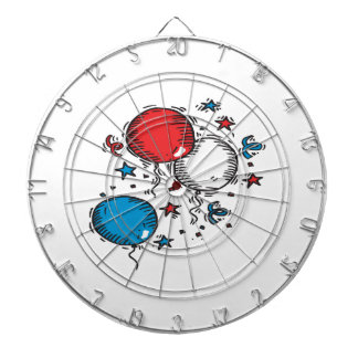 Red White And Blue Balloons Dartboards