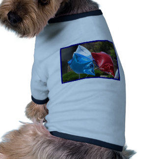Red White and Blue balloons dog shirt