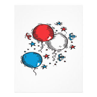 Red White And Blue Balloons Flyer