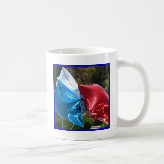 Red White and Blue balloons mug