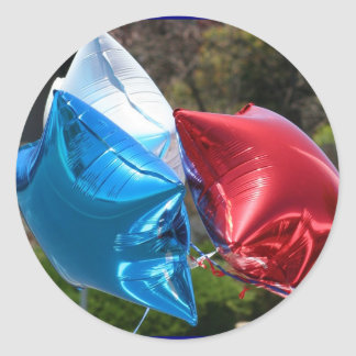 Red White and Blue balloons stickers