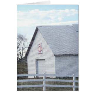 Red, White, and Blue Barn Quilt Barn Card